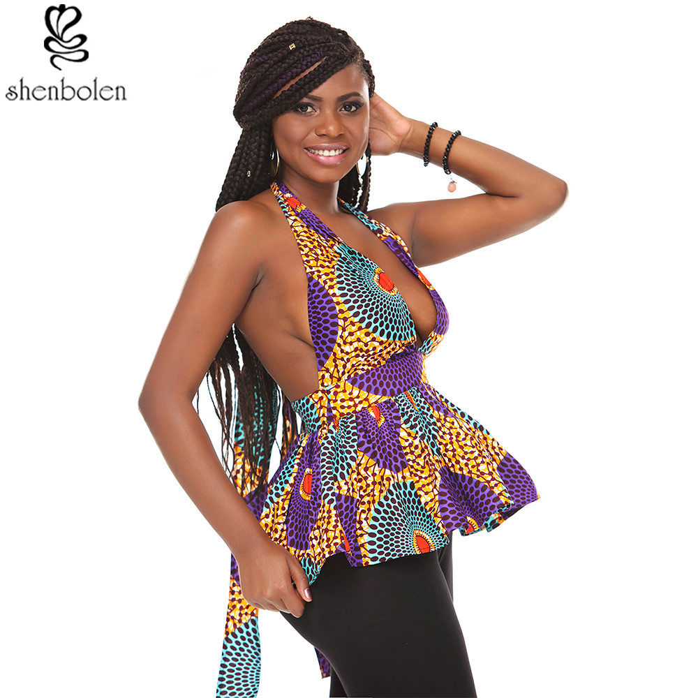 African blouse Women fashion top traditional clothing african clothes women print shirt top dashiki clothes plus size