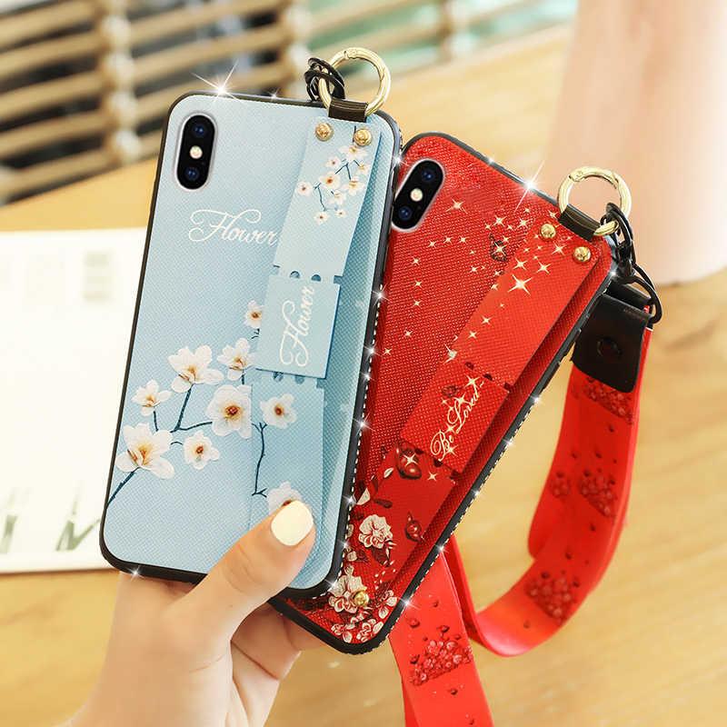 Повязка на руку с ремешком на запястье Чехол для iPhone 7 8 6 6s Plus Мягкий Чехол-держатель для телефона из ТПУ для Iphone x XS Max защитная задняя крышка