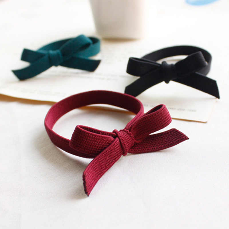 Hair Bands 2019 New Hot Sale Colorful Lowest Price For Beautifully Womens Girls Bow Knot Elastic Hair Ties Band Rope