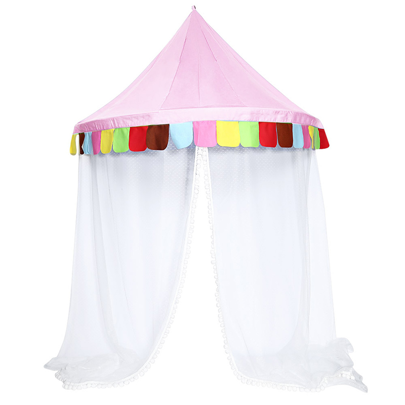 Bed Canopy Round Hoop Netting Children Play Tent For Girls