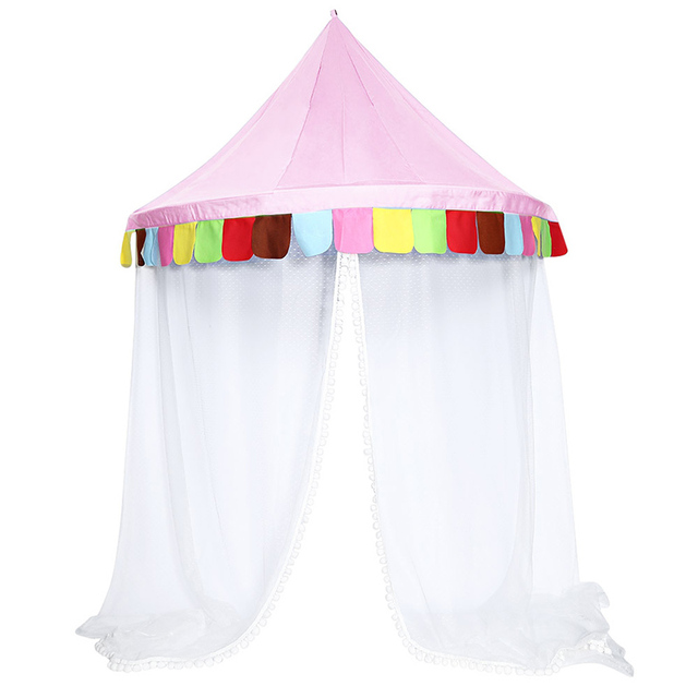 Bed Canopy Round Hoop Netting Children Play Tent For Girls Kids Play Tent Indoor Infant Room  sc 1 st  AliExpress.com & Bed Canopy Round Hoop Netting Children Play Tent For Girls Kids ...