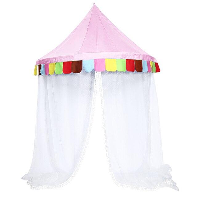 Charmant Rede Canopy Bed Rodada Hoop Crianças Brincam Tenda Para Meninas Kids Play  Tent Indoor Infantil Quarto
