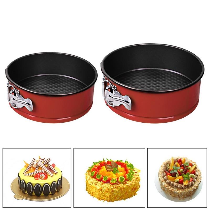 Cake-Molds Bakeware Removable Cake-Baking-Pan Kitchen-Tools Springform-Pan Bottom Carbon-Steel