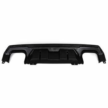 Black Rear Lower Bumper Diffuser With Dual Exhaust Tip Outlet Pipe Decor For Honda For Civic 10th Sedan 4 Door 2016 2017 2018
