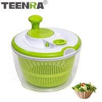 TEENRA Fruit Vegetable Salad Spinner Large Salad Spinner Vegetable Dehydrator Dryer Fruit Washing Basket Salad Bowls Kitchen