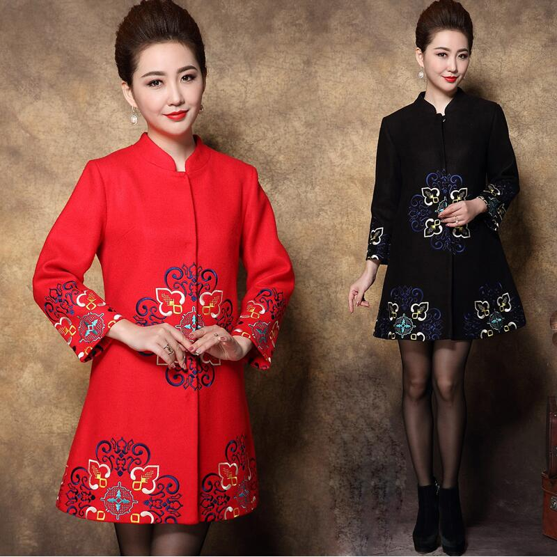 Spring And Autumn Women Tang Suit Casual Embroidered Clothing Women Tunic Outerwear Chinese Style Traditional Festival Costume