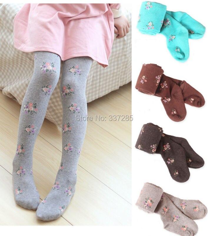 kinderen dikke warme panty voor meisjes kinderen suikerspin kleur - Kinderkleding