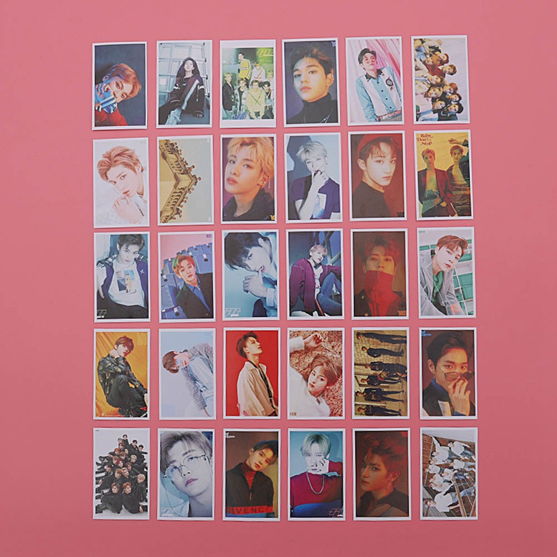 Office & School Supplies Stationery Set 30 Pcs/set K-pop Photo Card Poster Gift Collection Nct 127 Nct U Photocard Fans Self Made Paper Lomo Cards Colours Are Striking
