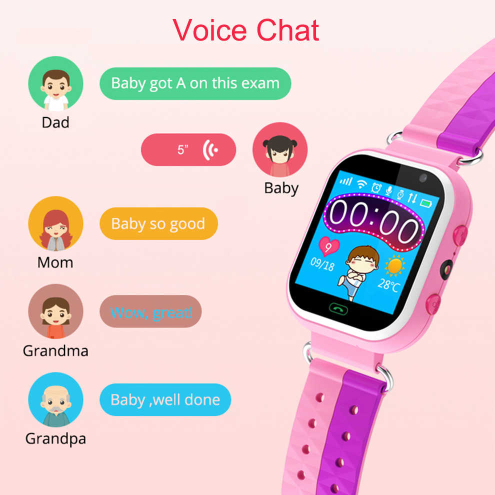 Original GPS Children's Smart Watch Real-time Positioning Kid Smart Watch With SOS Camera Touch Screen Voice Chat PK Q90 Q50 Q80