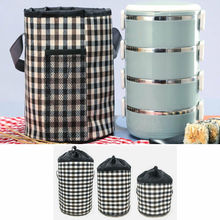 лучшая цена 2019 New Portable Insulated Food Container Bag Thermos Cooler Picnic Tote Lunch Box Kitchen Storage Bags