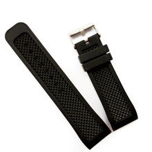 Waterproof 24mm Black Silicone Rubber Radian / Arc Degree Strap Watch Parts Watch Band Buckle + Tools все цены