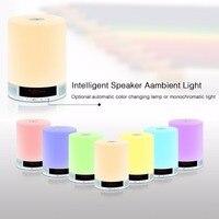 Novidade Speaker Sem Fio Bluetooth Speaker Luz Led Luzes Da Noite de Multi-Funcional Em Casa Lâmpada de Áudio para iPhone iPad Android ISO