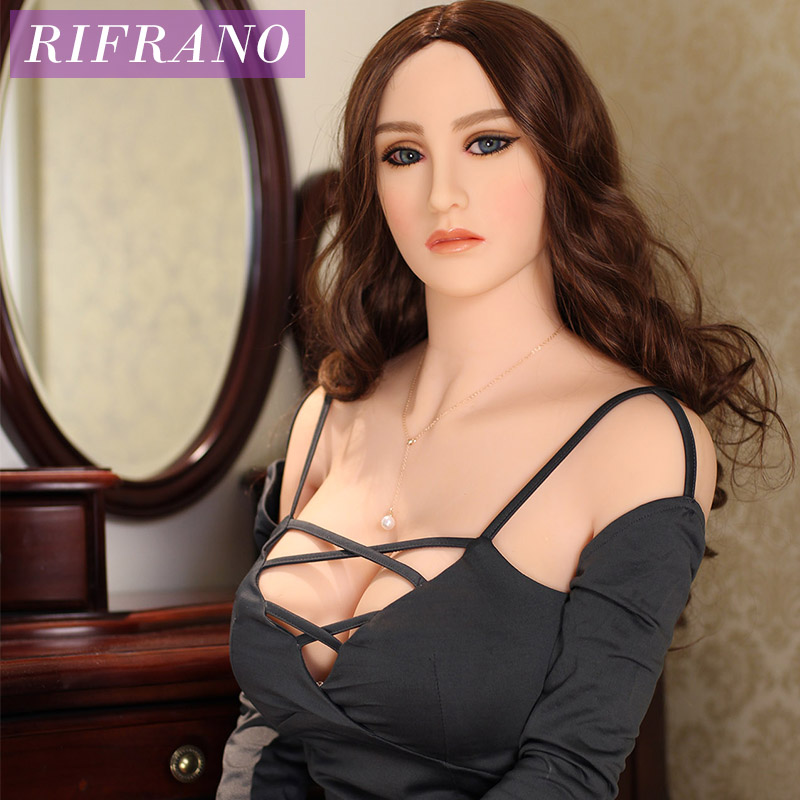 Rifrano <font><b>165cm</b></font> <font><b>Real</b></font> Soft Silicone <font><b>Sex</b></font> <font><b>Dolls</b></font> with Skeleton Lifelike Pussy Vagina Anal Sexy Toys for Man Masturbation image