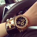 Женский Часы Кварцевые часы Высококачественной Нержавеющей Стали Ремешок Женские Часы Шесть-контактный личность большой циферблат Часы женщины