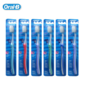 Trimmed for Braces Toothbrush Teeth Whitening Gum Care Oral B Teeth Brush for Orthodontics 5 Color Random Delivery 6pcs=1 pack