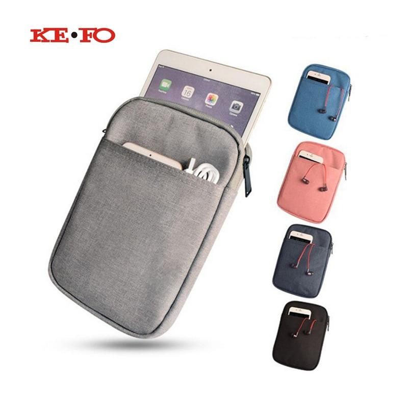 For Xiaomi Pad Mipad Xiao mi Mi Pad 7.9 Zipper Nylon Tablet Cover Case for funda iPad mini Light Weight Sleeve Pouch Bag