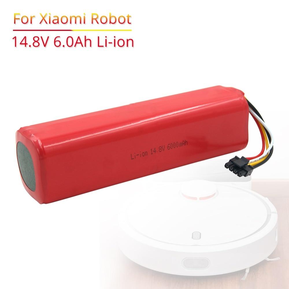 6000 mAh li-ion 14.8 V batterie Rechargeable pour xiaomi mi robot aspirateur roborock S50 S51