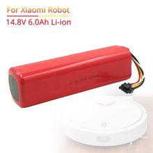 6000mAh li-ion 14.8V Rechargeable battery for xiaomi mi robot vacuum cleaner roborock S50 S51(China)