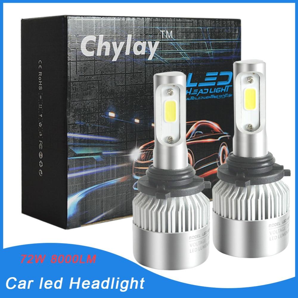 jedan par 9006 LED žarulje automobila 72W Automatska prednja - Svjetla automobila
