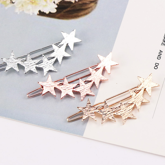 Alloy Stars Barrettes Hair Clips 1