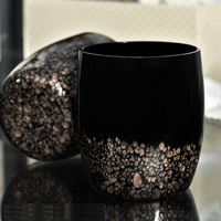 Classic Black crystal glass cup Very beautiful wine glasses Brief Lifestyle beverage cup