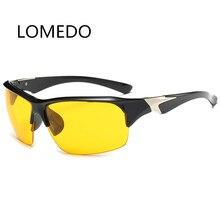 2017 New Designer Night Vision Goggles Eyewear Men HD Driving Glasses Fashion UV400 Semi-Rimless Sunglasses Men Luxury Brand
