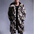 Más el tamaño 2017 de los Nuevos hombres Frescos de Imitación de Abrigos de Piel de Moda chaqueta De Colores encantador caliente del invierno hombres fake fur coat tamaño s m l xl