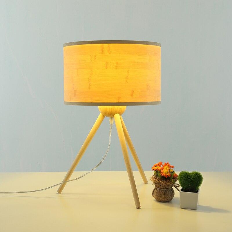 bambú Norte triángulo de madera europa de estilo de lámpara yIY7vbmf6g