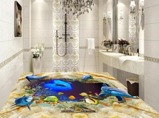 Steen In Interieur : 3d vloeren aanpassen steen plaat onderwaterwereld behang interieur