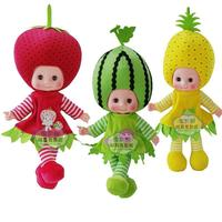 1Pcs Fruit Shape Doll Musical Plush Singing Stuffed Fruit Toy Dolls Gifts