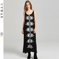 WYWAN Size Summer Chiffon Dress Women Petal Sleeve Printed Floral Beach Dress Plus Size Loose Midi Dresses 4XL 5XL 6XL 7XL 2019