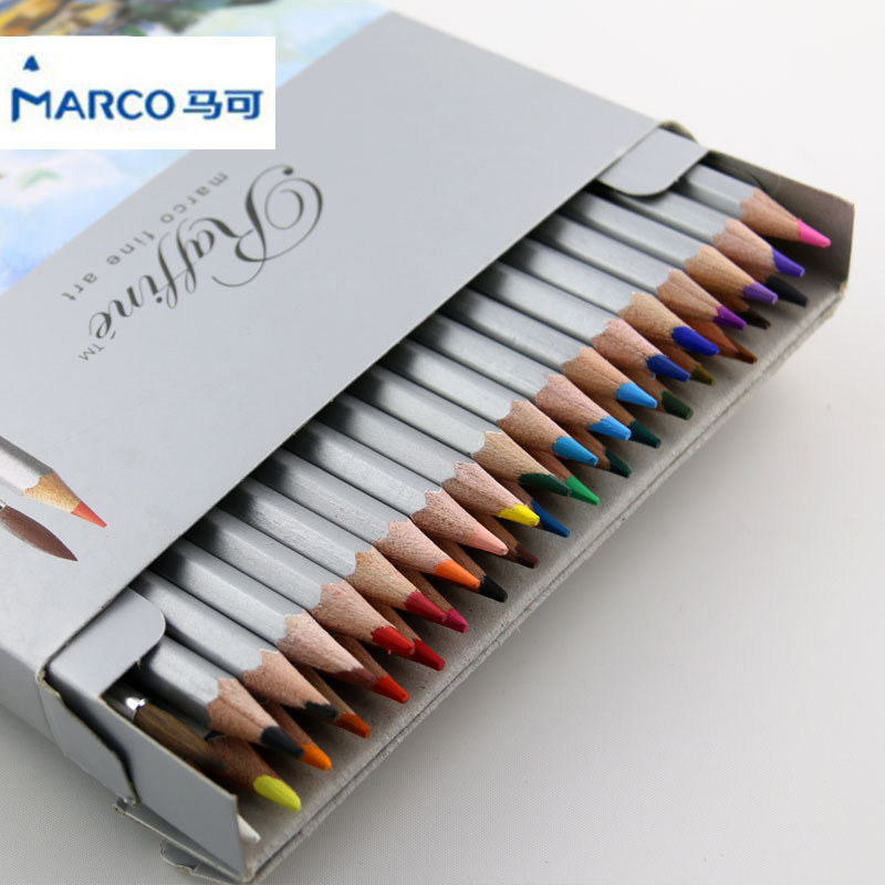 Marco Raffine Fine Art Colored Pencils Lapis de cor Professional Painting Watercolor Pencil Drawing Art Supplies 24/36 color