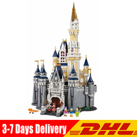В наличии Совместимость LegoINGlys 71040 Золушка Принцесса замок модель строительные блоки кирпичи развивающие игрушки для детей Подарки
