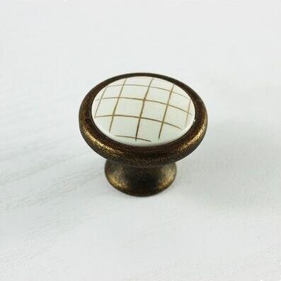 En alliage de zinc Drapeau Irlande Boutons Tiroir Placard 30mm poignées décorées