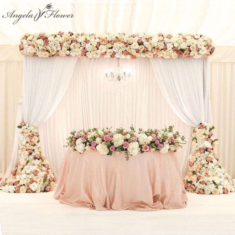1M 2M luxury artificial flower row arrangement decor for party wedding arch backdrop Road cited flower