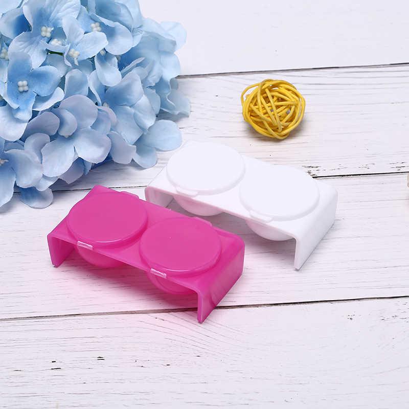 Podwójne usta Dappen danie biała róża miska kubek zestaw do mieszania płyn do akrylu i proszek akrylowy tworzywa sztuczne narzędzia do paznokci