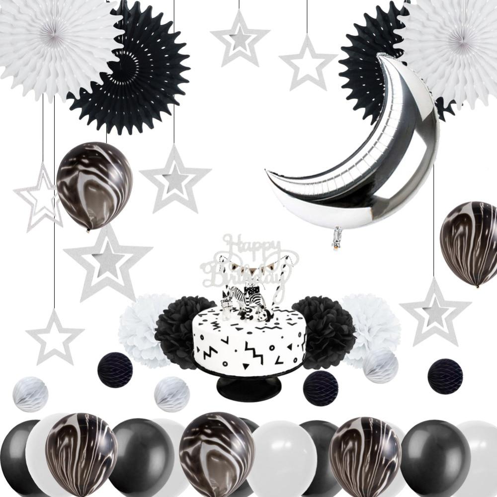 Marvelous Monochrome Safari 1St Birthday Party Decoration Kit Black White Funny Birthday Cards Online Elaedamsfinfo