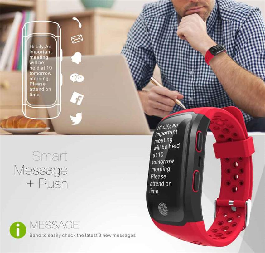 46f2abe9f33 IP68 GPS Relógio Inteligente Pulseira De Fitness Heart Rate Monitor ...