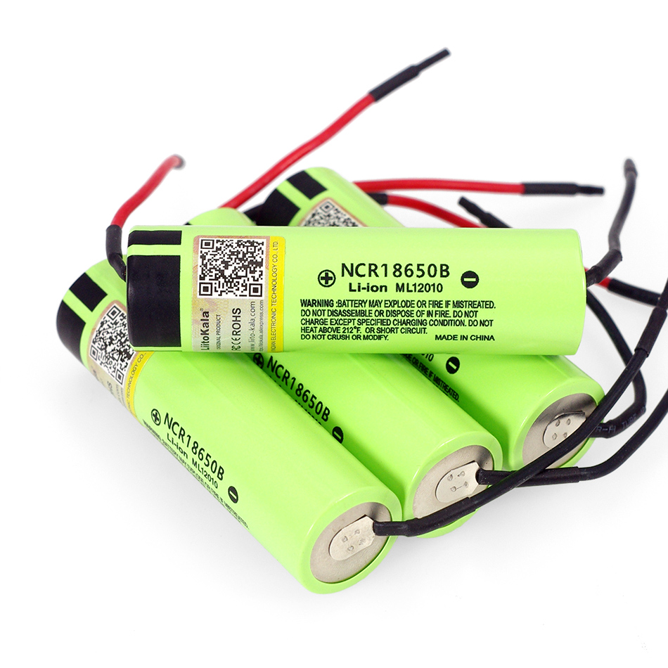 1-10PCS Liitokala new original NCR18650B 3.7V 3400mAh 18650 rechargeable lithium battery for battery + DIY Linie(China)