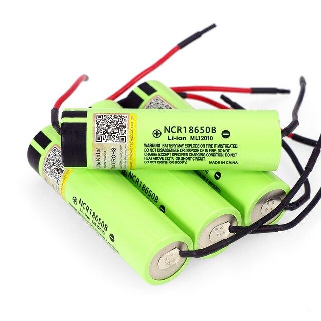 1-10 CHIẾC LiitoKala mới ban đầu NCR18650B 3.7 V 3400 mAh sạc 18650 pin lithium cho pin + DIY linie