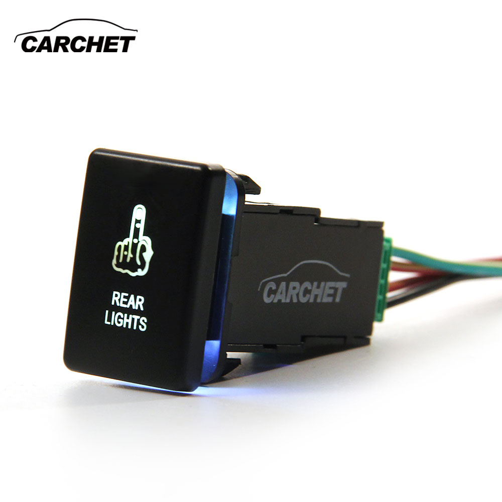 Carchet Switch For Toyota Kit Laser Led Push Switch With
