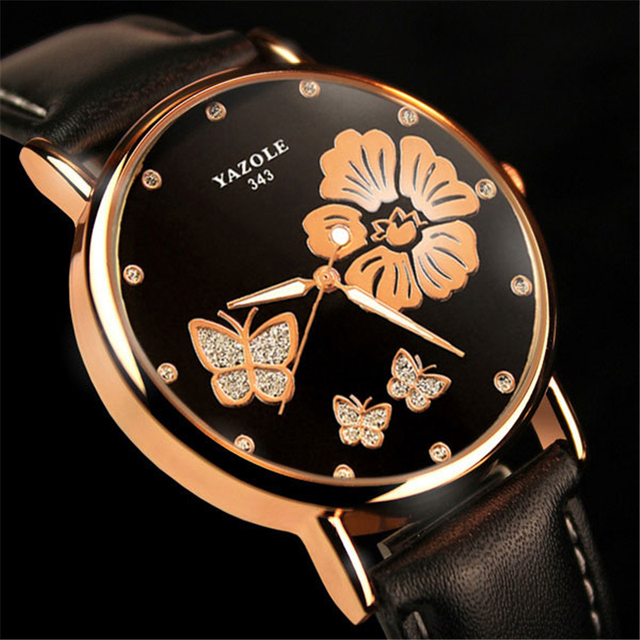 22ba6ad42c9 2018 Relógio De Pulso Das Mulheres Yazole Marca Famosa Moda Diamante  Senhoras Relógio Feminino Relógio de