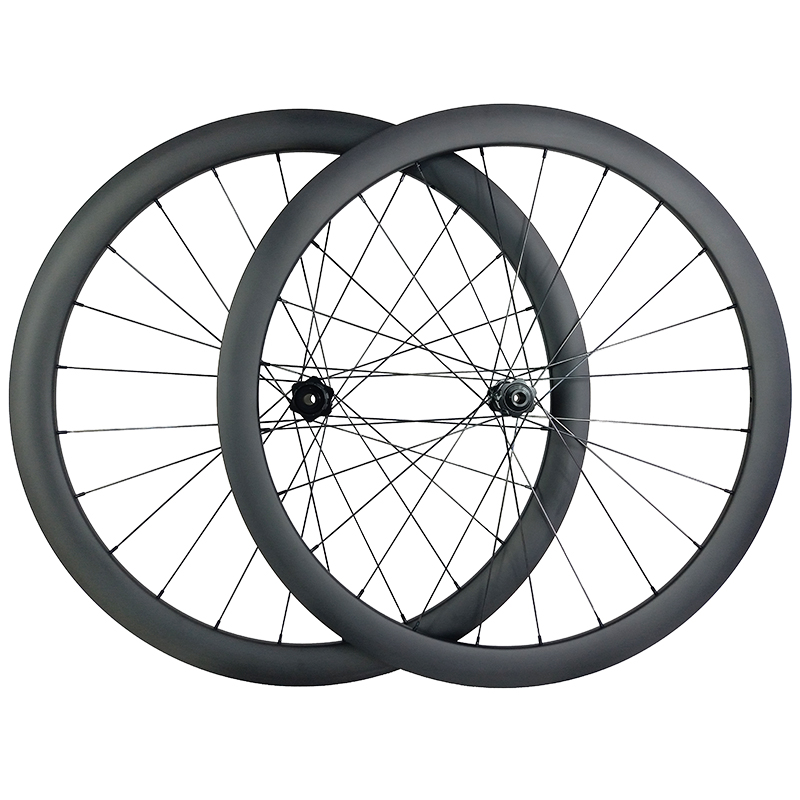 1390g 700c 42mm asymmetric road disc carbon wheels 25mm wide clincher tubeless 350S center lock cyclocross