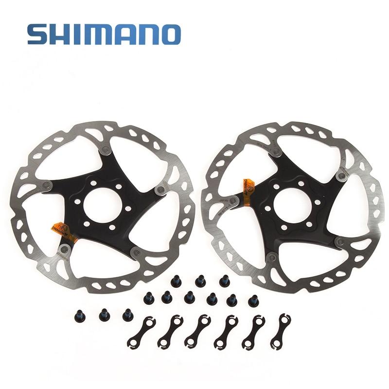 Цена за SHIMANO Deore XT SM RT76 S Тормозные роторы велосипедые Сталь и алюминиевый диск тормозной 6 болтов 160 мм 2 шт.