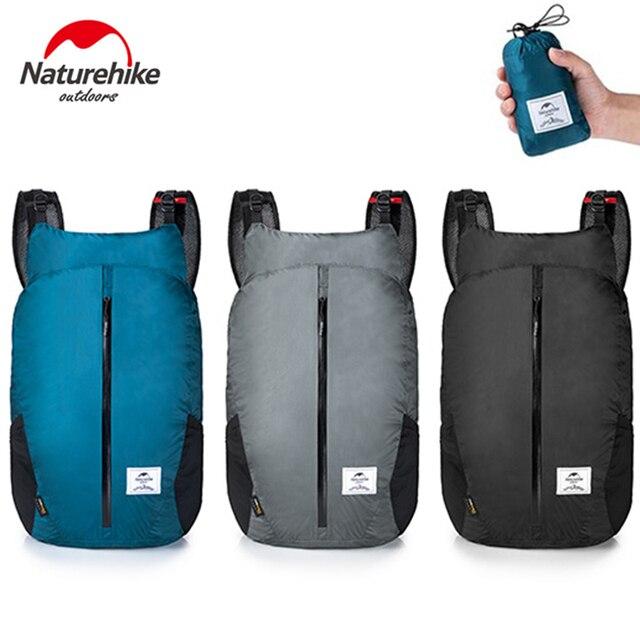 NatureHike Ultra Ringan Olahraga Outdoor Tas Cordura Kain 30D Nilon Folding Pack Ransel untuk Pria Wanita Perjalanan Berkemah