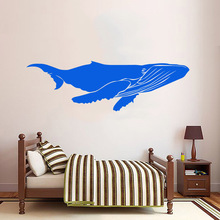 Pretty whale Removable Pvc Wall Stickers Bedroom Nursery Decoration Waterproof Art Decal