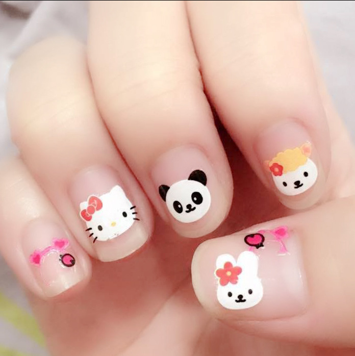 1 Sheet Cartoon Nail Stickers New Designs Water Transfer Nail Art For Children And Women Manicure HN-X01 Free Shipping дизайн ногтей essence трафарет для штампа nail art stampy designs 01