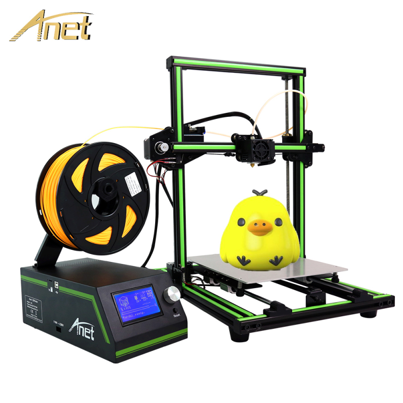Anet A6 A8 E10 3D Printers High Precision DIY 3D Printer Kits impressora 3d prusa i3 Printer plus Size with SD card 1kg Filament high quality wanhao jewelry 3d printer with 2gb sd card an 1kg filament for free