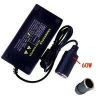 60 W Vehicl Güç Inverter 110 V-240 V AC İçİn 12 V DC Araç Çakmak Dönüştürücü için araba Elektrikli süpürgeler ağda Çamaşır makinesi