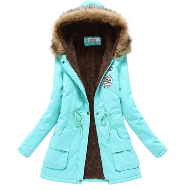 Winter Jacket Women Wadded Jacket Outerwear Slim Winter Hooded Coat Long Cotton Padded Fur Collar   Parkas Plus Size Woolen Coat 2015 winter jacket women cotton padded jacket women fur collar ladies winter coat thickening outerwear long denim parkas h4451